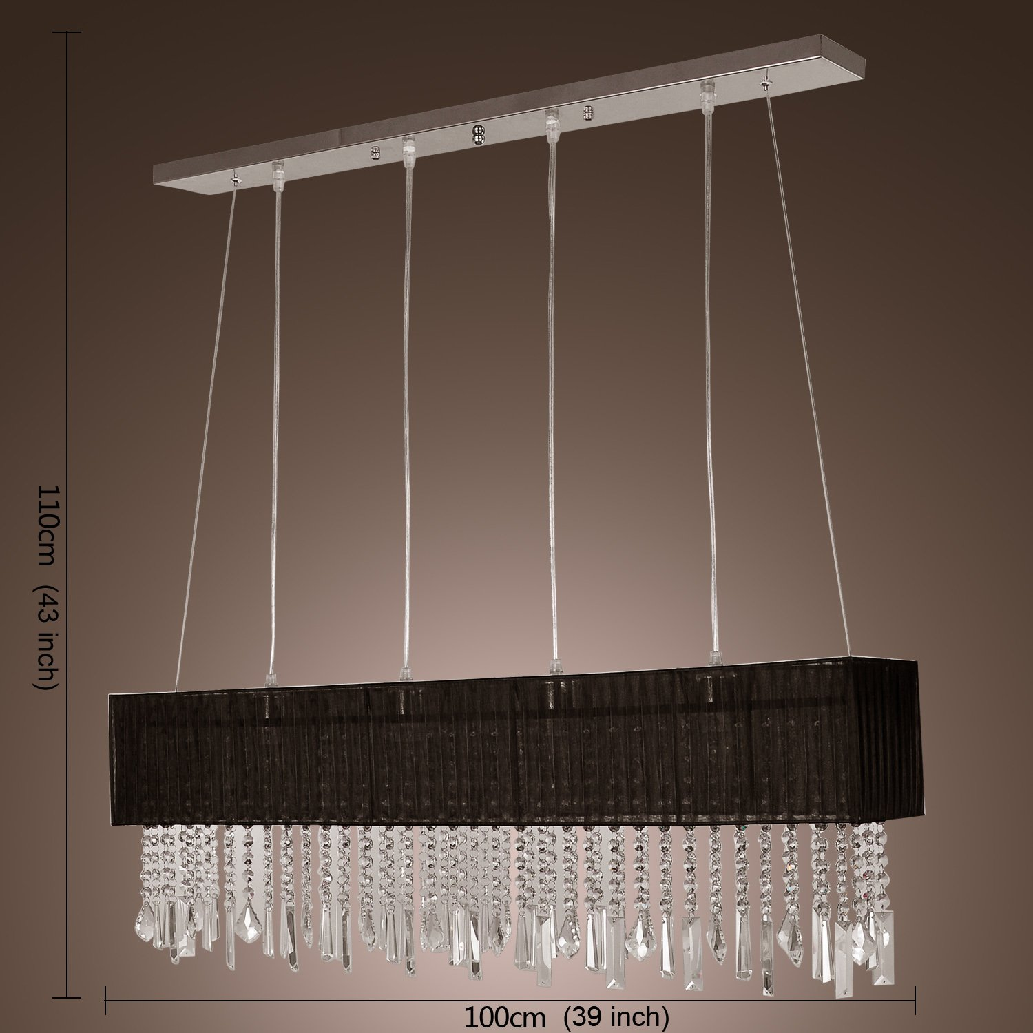 Modern Stylish Pendant Hanging Drop Light With 4 Lights Chain Cord Adjustable For Living Room Dining Hallway And Entery