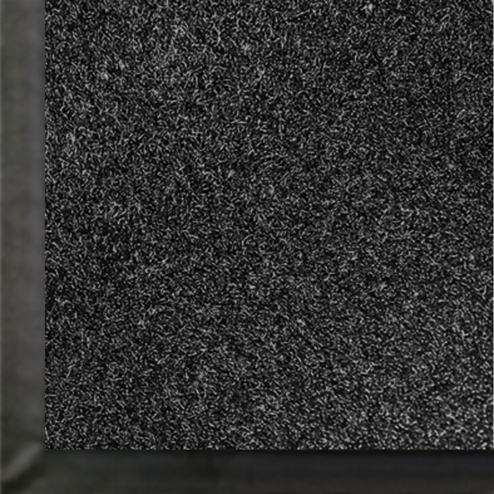 Andersen 871 Impressionist Olefin Fiber Interior Floor Mat, Non-Woven Polyester and Vinyl Backing, 8' Length x 4' Width, Black by The Andersen Company