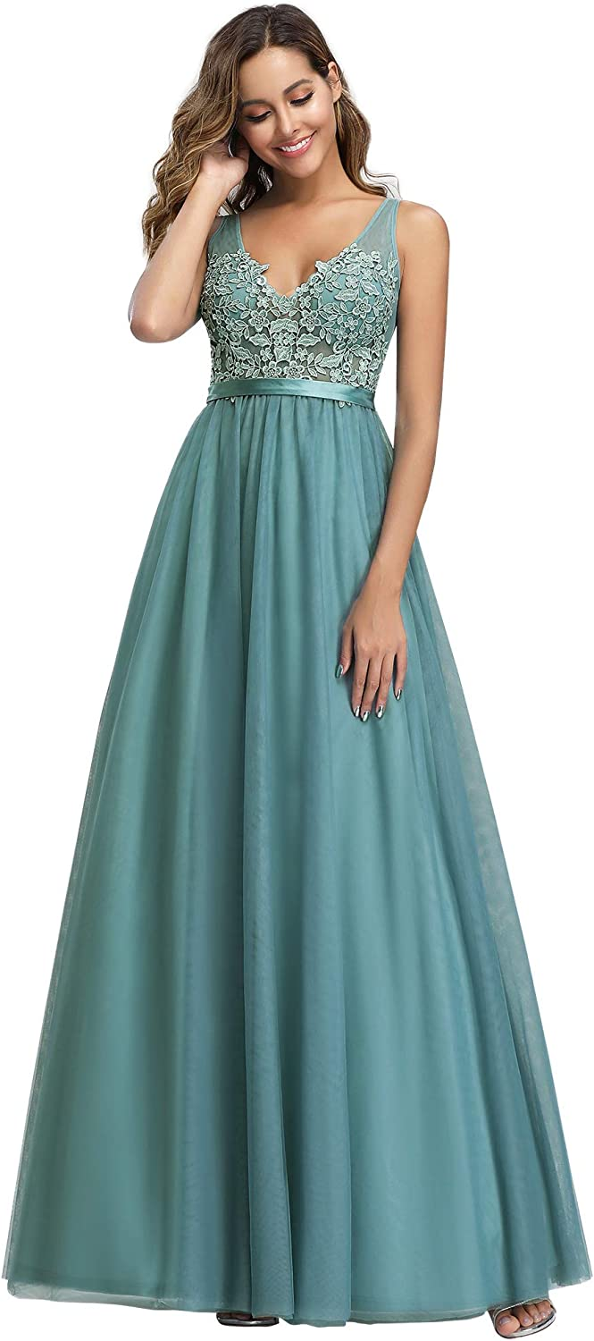 Ever-Pretty Long Sleeve Bridesmaid Dresses Evening Formal Party Cocktail Dress