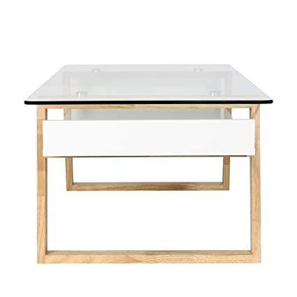 Amazon.com: Poly and Bark Segovia Glass Top Coffee Table in ...