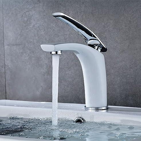 Auralum® Küchenarmatur Wasserhahn weiß schöne Design mit keramik ...