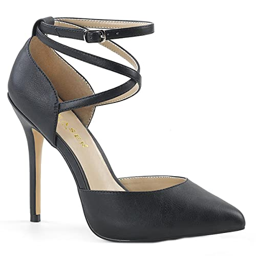 6dc2761df9 Higher Heels PleaserUSA Womens High Heels Courts Amuse-25 black matte size  3 UK