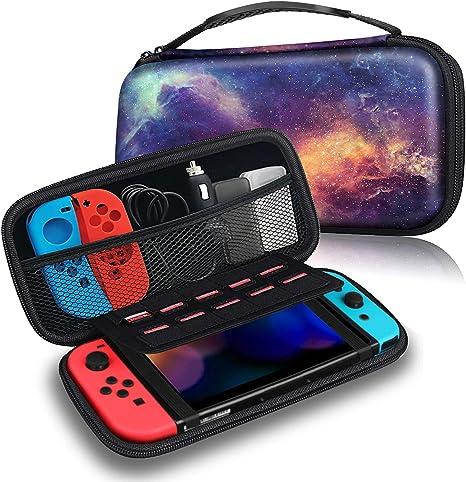 Fintie Funda Portátil para Nintendo Switch - Estuche para Viaje Bolsa de Transporte con 10 Ranuras para Tarjeta de Juego y Bolsillo para la Videoconsola Joy-con de Nintendo Switch, Galaxia: Amazon.es: Informática