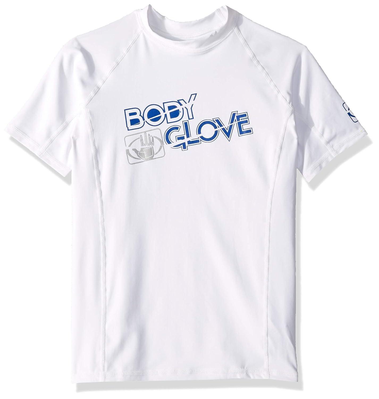14 Body Glove Boys s//a Fitted Basic Rashguards White