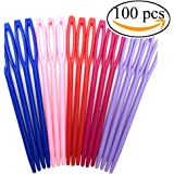 """Mmei 100 pcs 7CM/2 3/4"""" Plastic Hand Sewing Yarn Darning Tapestry Needles Lacing Needles for DIY Notions Craft Stitchery (20 pcs per color)"""