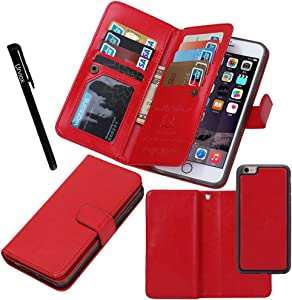 "Urvoix for Apple iPhone 8 Plus/iPhone 7 Plus/iPhone 6S Plus(5.5"" Display), Wallet Leather Flip Card Holder Case, 2 in 1 Detachable Magnetic Back Cover iPhone 8Plus/7Plus/6Plus(NOT for iPhone8)"