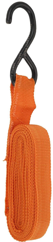FX-Tools Spannband//Spanngurt mit Ratsche und gummierten Haken 4,5 Meter lang 2,5 cm breit orange