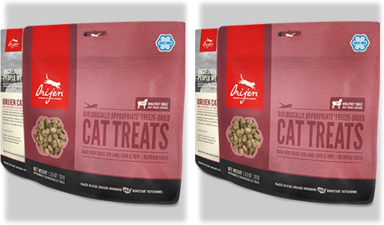 Orijen 2 Pack Grass-Fed Freeze-dried Lamb Cat Treats 1.25 Oz. ea. Fast Free Delivery