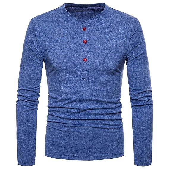 BaZhaHei-Blusa de hombre, Personalidad de los Hombres de Moda Slim Fit Camisa de