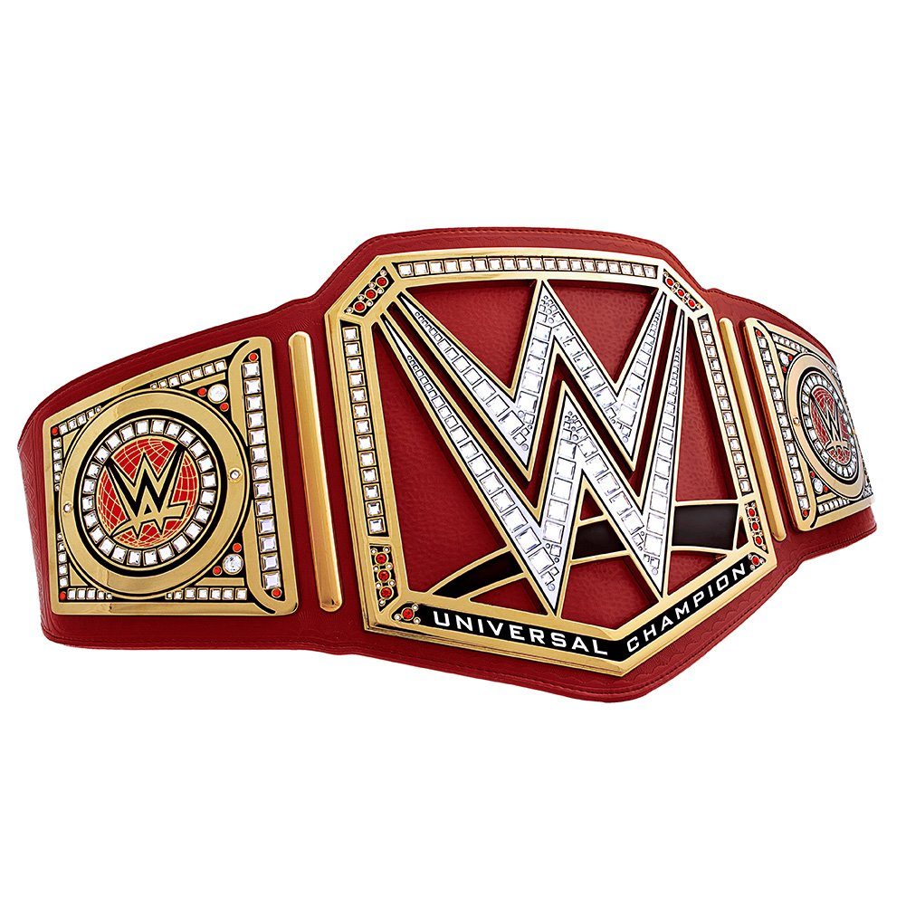 WWE Universal Championship Commemorative Title Belt Gold/Red by WWE Authentic Wear (Image #5)