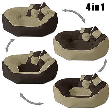 BedDog 4 en 1 SABA beige/marron L aprox. 65x50cm colchón para perro,