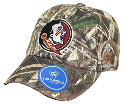 sale retailer efd3d 0cf12 Image Unavailable. Image not available for. Color  Florida State Seminoles  NCAA TOW  quot Crew Max quot  RealTree Camo Adjustable Hat