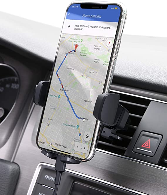 AUKEY Car Phone Mount Air Vent Cell Phone Holder for Car Compatible with iPhone 11/11 Pro/Xs/XS Max / 8/7 / 6