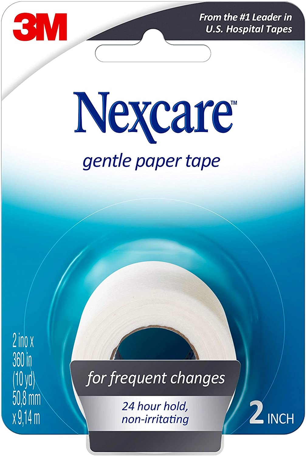 Nexcare Gentle Paper First Aid Tape Pack of 4 0.09 Pound Dispenser 3//4 Inches X 8 Yards