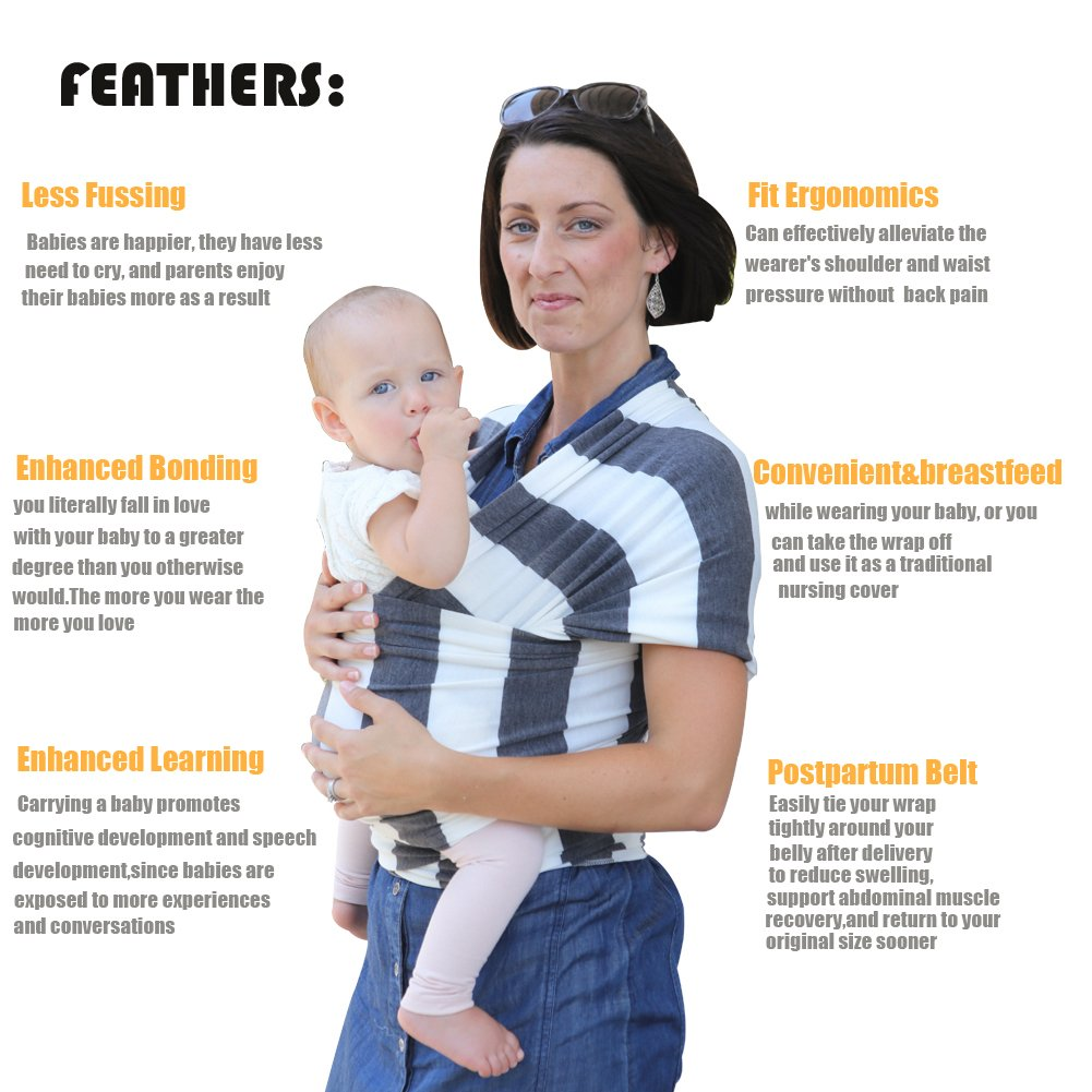 Amazon Com Baby Wrap Baby Sling Carrier Breathable Soft Safe