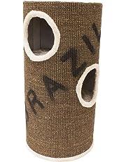 Rinderohr Kratztonne Design Tower -braun- 70 cm