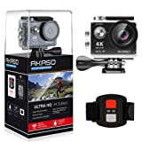 AKASO EK7000 4K Sport Action Camera Ultra HD Camcorder 12MP WiFi Waterproof Camera 170 Degree Wide View Angle 2 Inch LCD Screen W/ 2.4G Remote Control/2 Rechargeable Batteries/19 Accessories Kits- Black