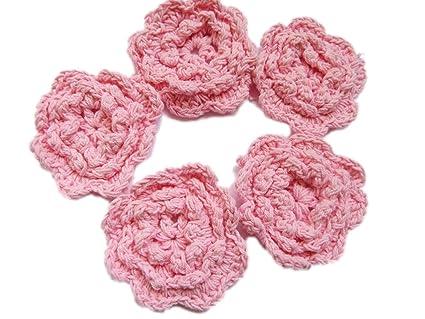 Amazon Yycraft 25 Crochet Flower Applique For Baby Girls