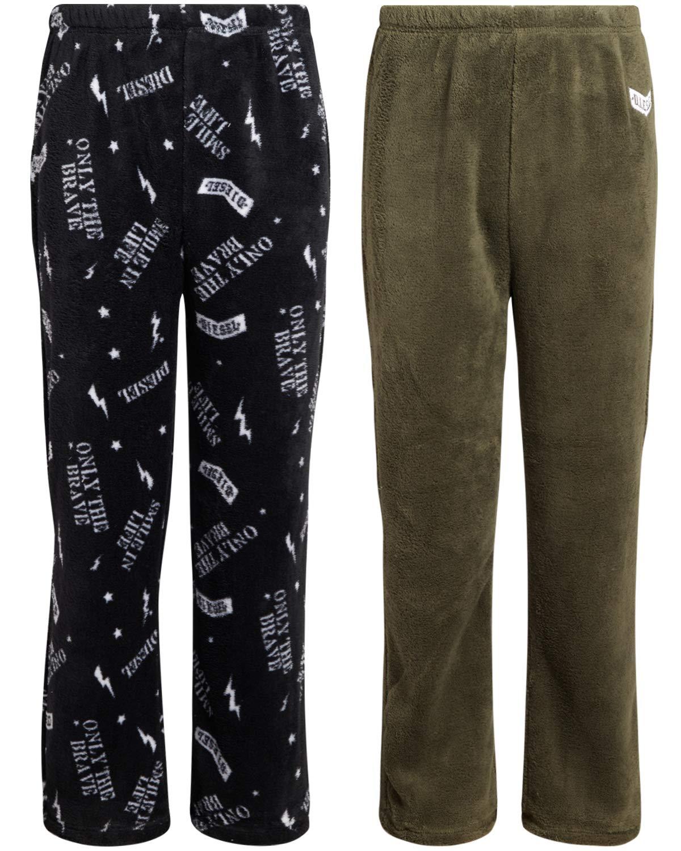 Diesel Boys' Plush Fleece Pajama Pants (2-Pack)
