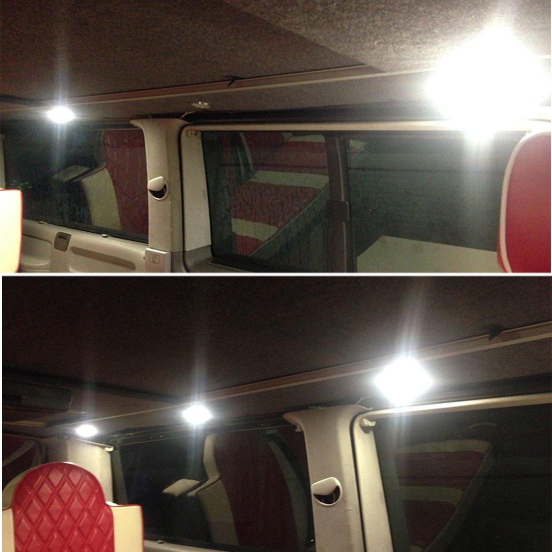 interior spot lighting. 12V Interior LED Spot Lights Recessed Ceiling Light For X6 T4 T5 Transporter Camper VAN Boat, Pack Of 6: Amazon.co.uk: Car \u0026 Motorbike Lighting
