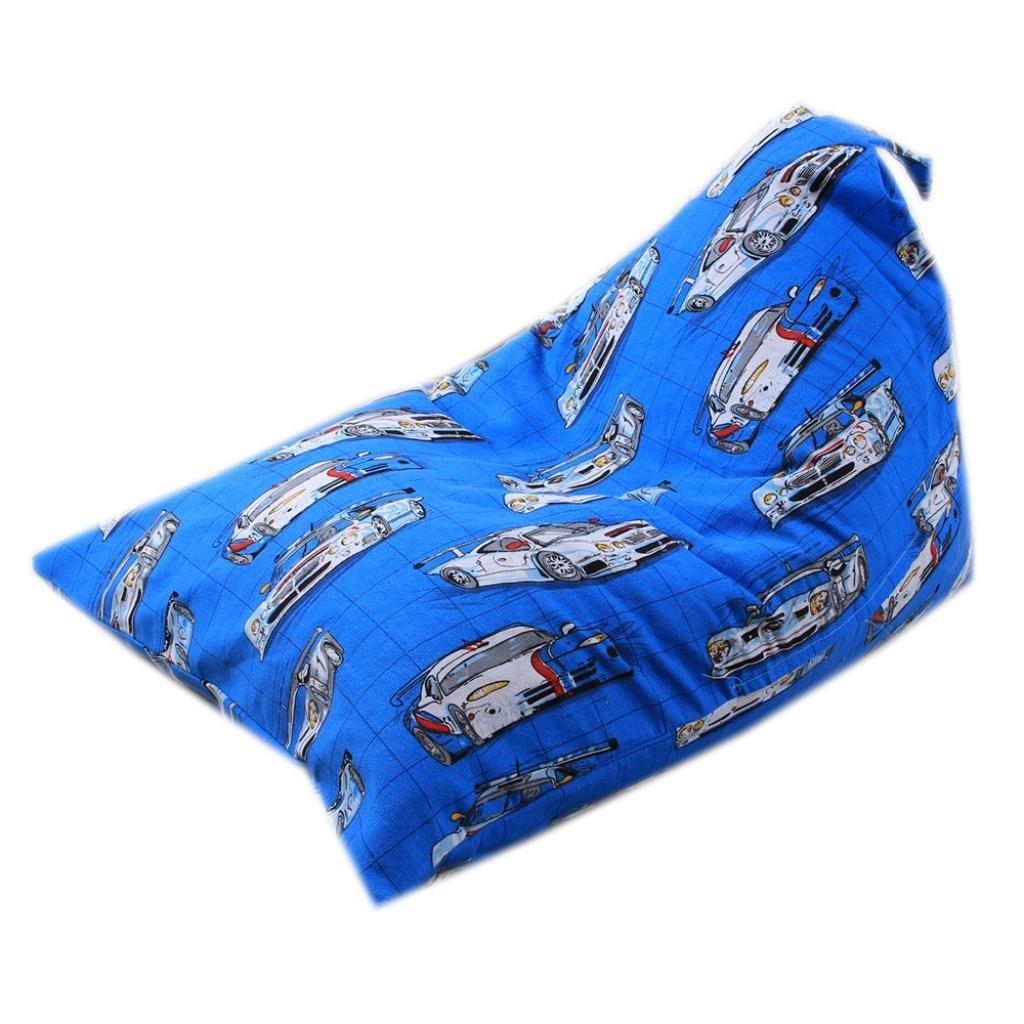 Smileq Sit de rangement Pouf enfants Peluche en peluche Jouets Pouf de rangement étui souple à rayures Tissu souple, a, 65 x 95 x 55cm