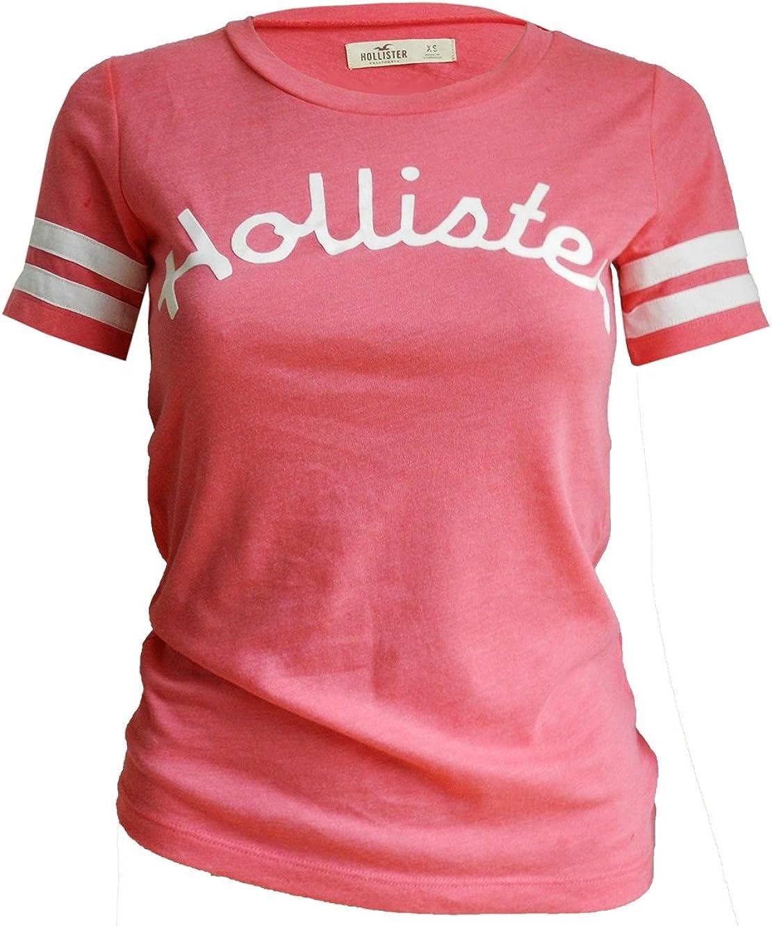 Hollister - Camiseta - para mujer Rosa rosa 38: Amazon.es: Ropa y accesorios