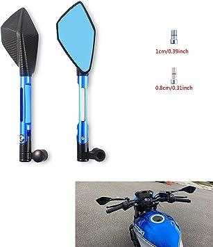 Specchietti Laterali per Moto 8MM 10MM con vite blu evomosa Specchietto Retrovisore Universale per Moto