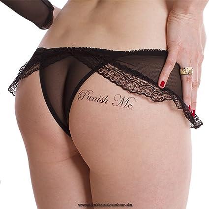 1 X Punish Me Fuck Me Lettrage De Tatouage En Noir Sexy