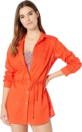 9fb8792c6fca Tory Burch Swimwear Womens Brigitte Beach Tunic Cover-Up at Amazon Women s  Clothing store