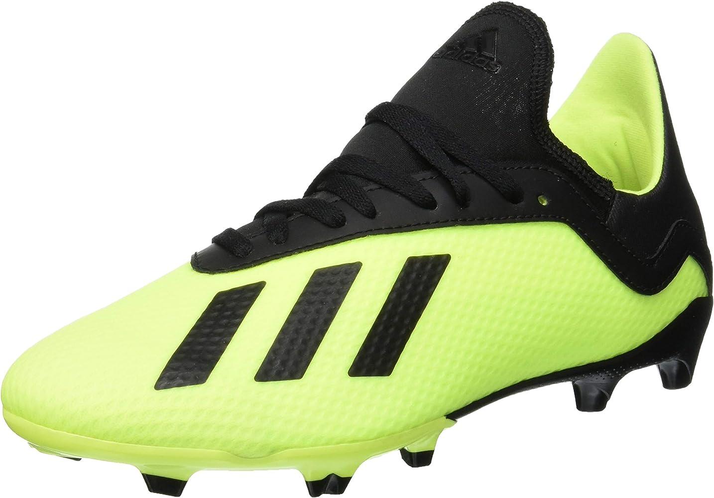 nuovo economico stili di moda marchio popolare adidas X 18.3 Fg J, Scarpe da Calcio Bambino, Giallo (Syello ...