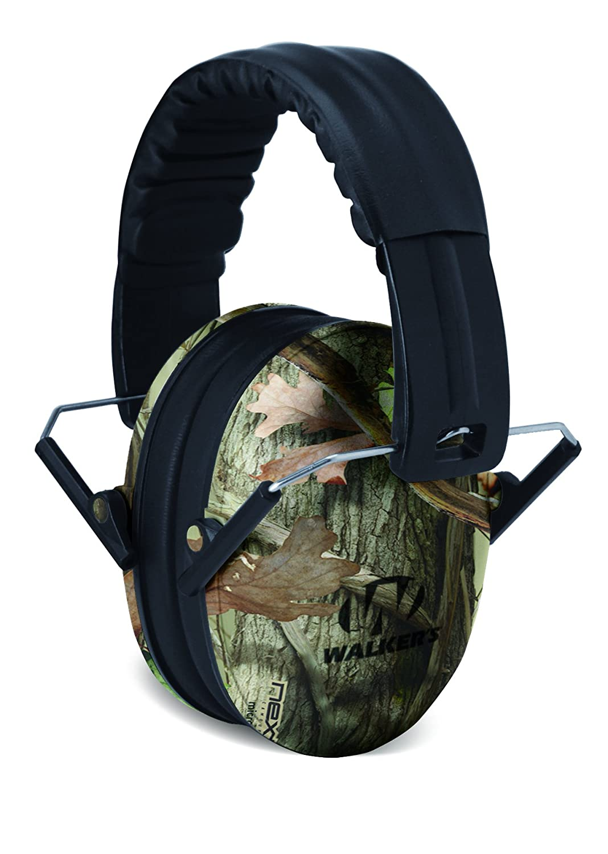 Walkers Game Ear GWP-FKDM-CMO Walker's Children-Baby & Kids Hearing Protection/Folding Ear Muff, Camo Camouflage
