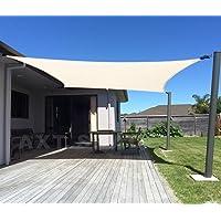 AXT SHADE Toldo Vela de Sombra Rectangular 2 x 3 m, protección Rayos UV y HDPE Transpirable para Patio, Exteriores…