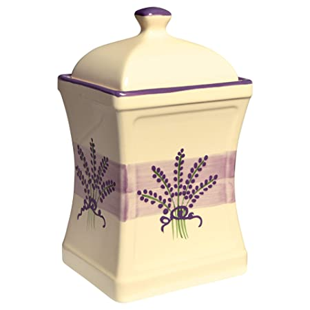 14b396a3da9b City to Cottage Lavender Pattern Purple And Cream | Handmade Hand Painted |  Large 31.5oz