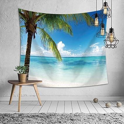 Axiba Tapices, Mantel de mar Pintado de árbol de Coco de Playa Toalla de Playa
