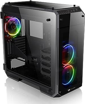 Thermaltake View 71 RGB 4-Sided Tempered Glass Vertical GPU Modular E-ATX Gaming Full Tower Computer Case CA-1I7-00F1WN-01