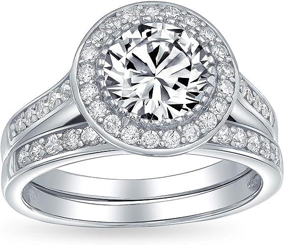 Lab Emerald Round 8mm Engagement Ring Sterling Silver Green Gem Ring Wedding Ring Diamond Simulant Halo Engagement Ring Bridal Ring