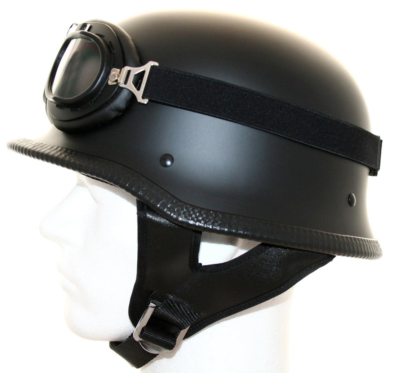 ATO Moto Motorradhelm Stahlhelm Oldtimer Brille Schwarz matt Gr/ö/ße: L 59//60cm