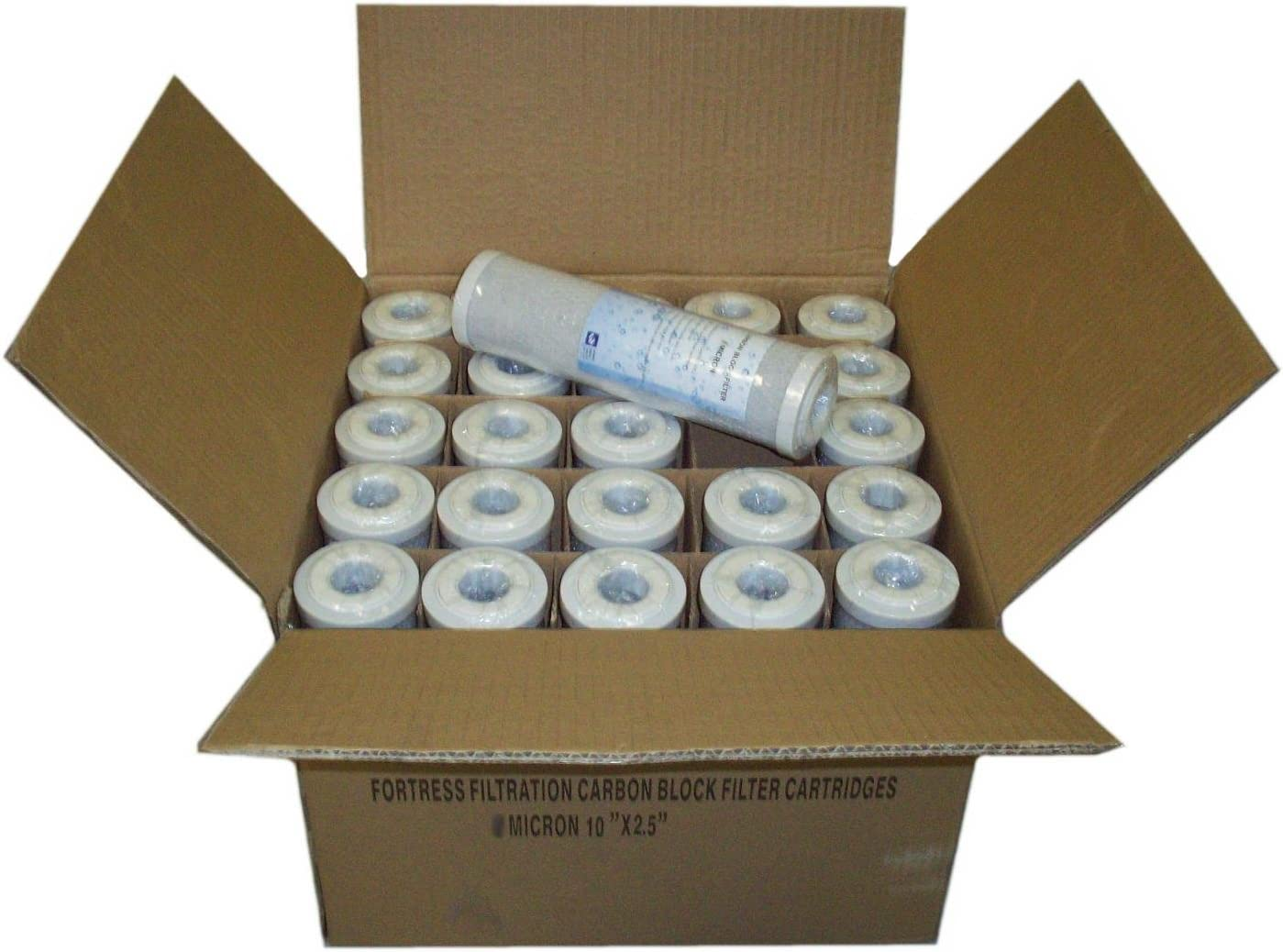 """12-Pack of 5µm Carbon Block Coconut Shell Water Filter Cartridge 10/"""" by Aquaboon"""