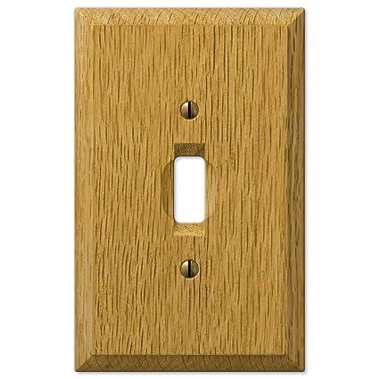 Amertac 4025t Traditional Light Oak Wood Wall Plate