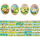 60 Easter Egg Stickers Heat Shrink Wrap Sleeve Decorations Wrappers