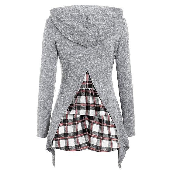 01e59408713a Sudaderas para Mujer,RETUROM❤Mujer Sudaderas Cortas Adolescentes Chicas  Manga Larga Sudadera con Cuello en O Casual Tops Blusas Camiseta