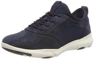 c07d38956edb73 Geox Women s D Nebula S a Slip On Trainers Blue  Amazon.co.uk  Shoes ...