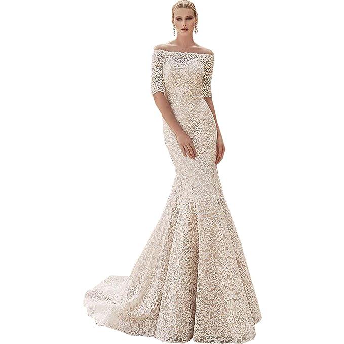 dressvip - Vestido de novia - Manga Corta - Mujer blanco blanco 46