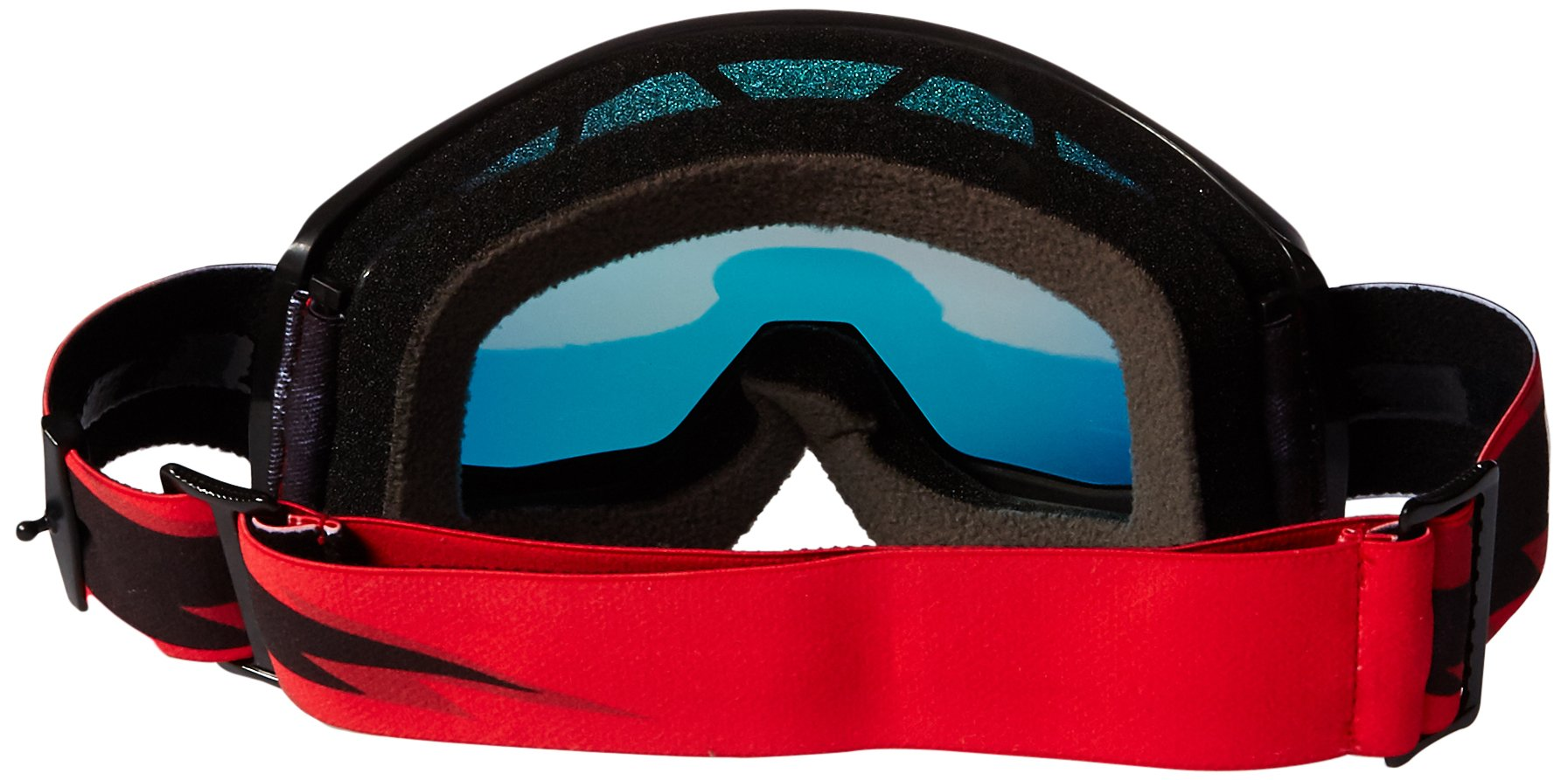 100% Unisex-Adult Goggle MX STRATA SLSH Mirror Lens Red (Black, Mirro Red, One Size) by 100%