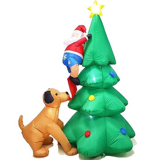 Poptrend - Árbol de Navidad Hinchable de Papá Noel con luz LED (1 ...
