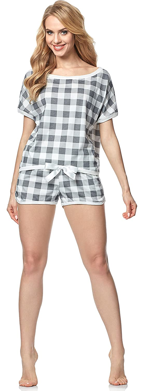TALLA S. Italian Fashion IF Pijama Camiseta y Pantalones Mujer 1D2L 0227