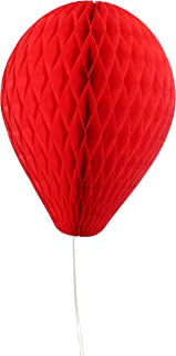 product image for 6-Pack 11 Inch Honeycomb Tissue Paper Balloon (Red)