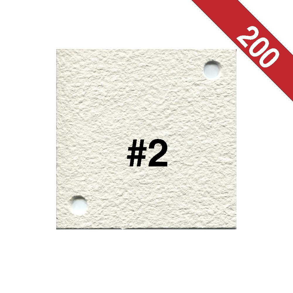 Buon Vino Super Jet Filter Pads, 2.0 Micron (#2) White (Pack of 200)
