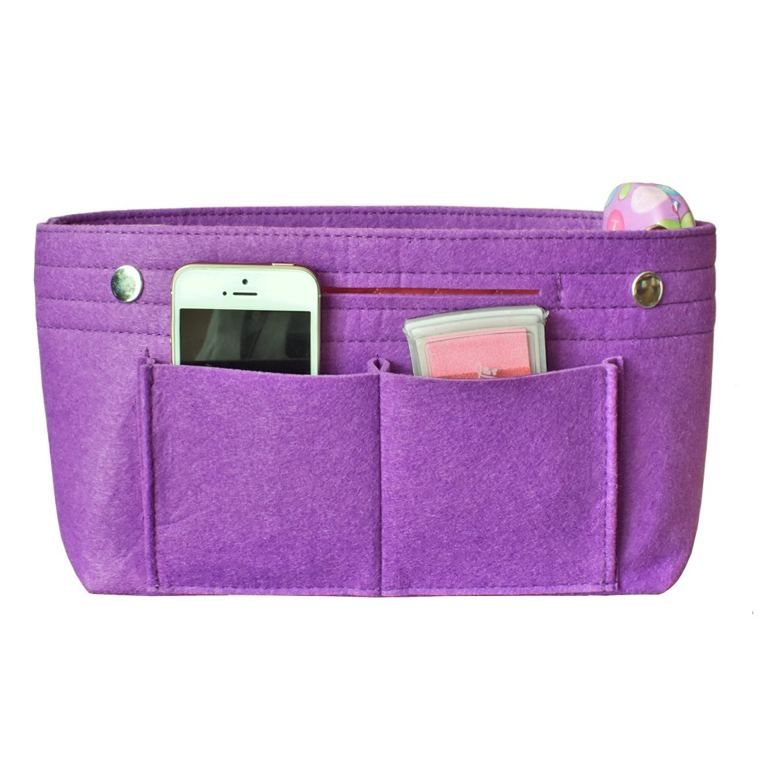 HyFanStr Taschenorganizer Handtasche Einlage Beutel Reise Organizer Taschen Kosmetik Veranstalter Tasche S Tote-DarkGrey-Small