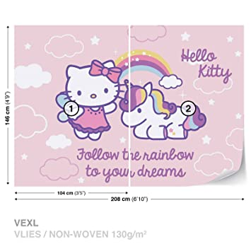 Hello Kitty Wall Mural Photo Wallpaper Room Decor 1814ws